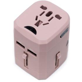Herschel Travel Adapter, pink